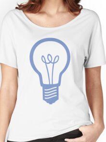 Blue Light Bulb Women's Relaxed Fit T-Shirt