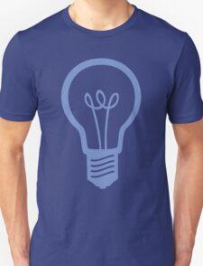 Blue Light Bulb Unisex T-Shirt