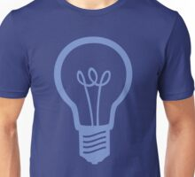 Blue Light Bulb Unisex T-Shirt