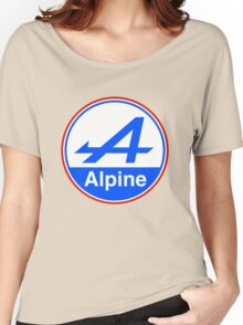 Alpine Bright Blue Women's Relaxed Fit T-Shirt
