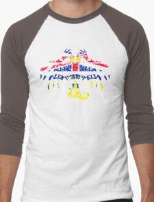 BRITISH COLUMBIA 2 HEADED DRAGON FLAG Men's Baseball ¾ T-Shirt