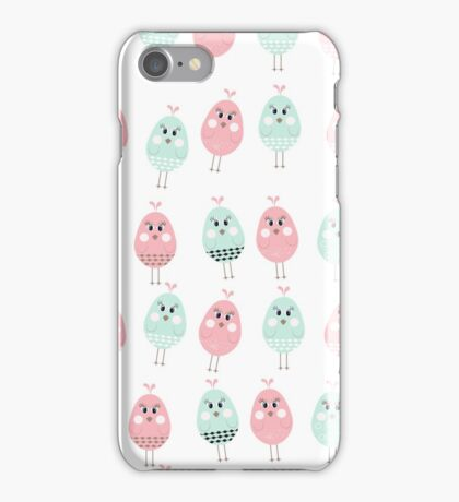 Chick pattern seamless. Vector stock. iPhone Case/Skin