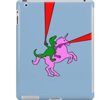 Dinosaur riding Invisible Pink Unicorn iPad Case/Skin