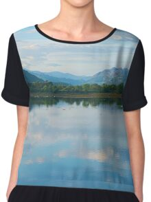 Beautiful Landscape viewed from Porthmadog Chiffon Top