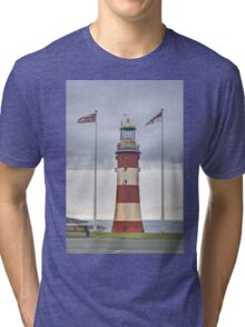 Plymouth Hoe lighthouse Tri-blend T-Shirt