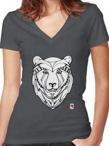 Kodiak Bear Women's Fitted V-Neck T-Shirt