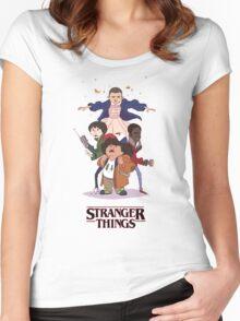 Stranger Things Fan Art Women's Fitted Scoop T-Shirt