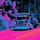 Truckers Big Rig Auto-Transporter Truck  by NaturePrints