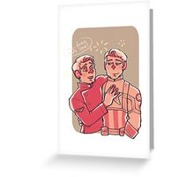 Fireworks after midnight Greeting Card