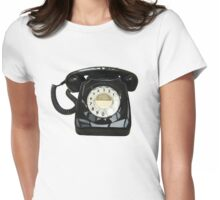 Retro telephone Womens Fitted T-Shirt