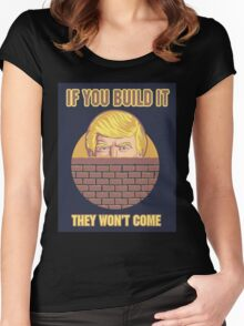 Trump Wall Women's Fitted Scoop T-Shirt