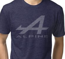 Alpine Alphabet Logo WHT Distressed Tri-blend T-Shirt