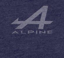 Alpine Alphabet Logo WHT Distressed Tri-blend T-Shirt
