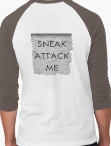 """Sneak Attack Me"" prank note Men's Baseball ¾ T-Shirt"