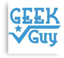 Geek Guy Canvas Print