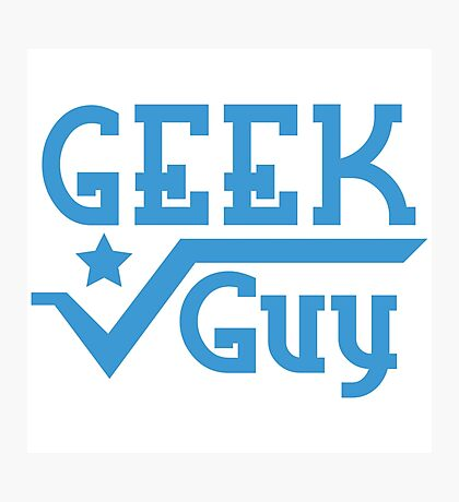 Geek Guy Photographic Print