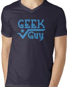 Geek Guy Mens V-Neck T-Shirt