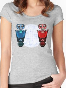 RRDDD Red and Blue Disco Women's Fitted Scoop T-Shirt