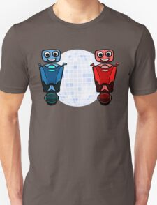 RRDDD Red and Blue Disco Unisex T-Shirt