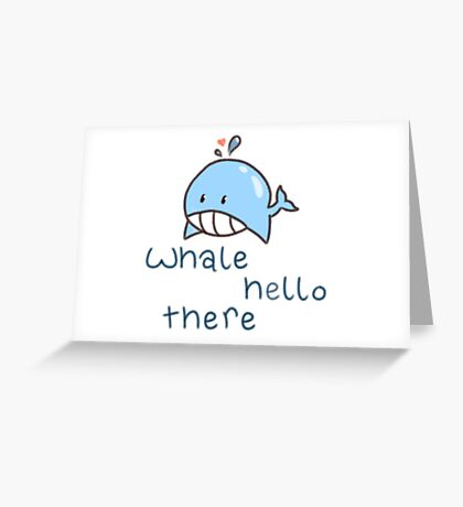 Wally the Whale Greeting Card