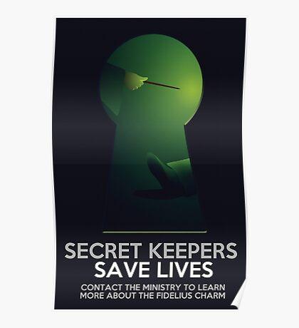 Secret Keepers Save Lives Poster