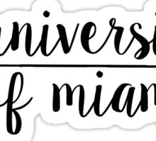 University of Miami Sticker