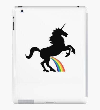 Unicorn Rainbow Pee (black design) iPad Case/Skin