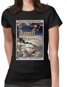 Gustave Fraipont Affiche PO Midi Biarritz Womens Fitted T-Shirt