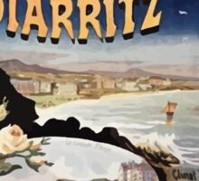 Gustave Fraipont Affiche PO Midi Biarritz Sticker
