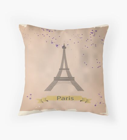 Eiffel tower. Throw Pillow