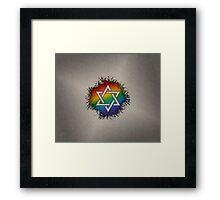 LGBT Judaic Star of David Framed Print