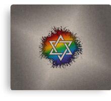 LGBT Judaic Star of David Canvas Print