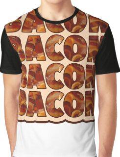 Bacon Bacon Bacon Bacon - 4 Slices of Bacon Graphic T-Shirt