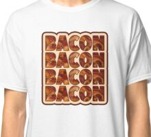 Bacon Bacon Bacon Bacon - 4 Slices of Bacon Classic T-Shirt