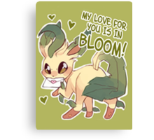 Leafeon Love Canvas Print