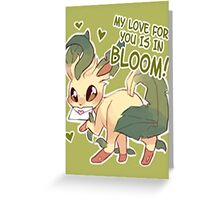 Leafeon Love Greeting Card