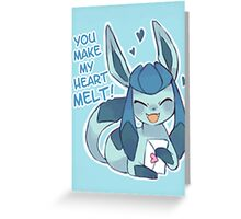 Glaceon Love Greeting Card