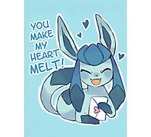 Glaceon Love Photographic Print
