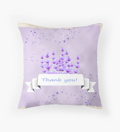 Lavender pattern. Provence. Throw Pillow