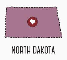 North Dakota State Heart Kids Tee