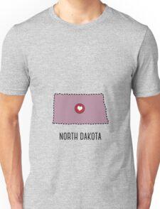 North Dakota State Heart Unisex T-Shirt