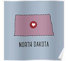 North Dakota State Heart Poster
