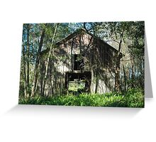 Rustic barn and ferns Greeting Card