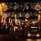 Christmas Lights, North St, Brighton by Irina Chuckowree