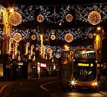 Christmas Lights, North St, Brighton by Irina Chuckowree