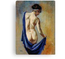 The Blue Shawl Canvas Print