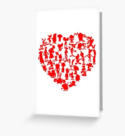I Love Cartoons Greeting Card