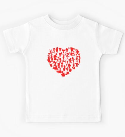 I Love Cartoons Kids Tee