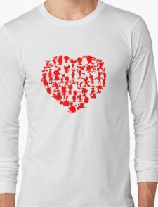 I Love Cartoons Long Sleeve T-Shirt