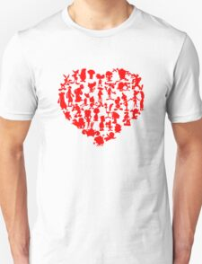 I Love Cartoons Unisex T-Shirt